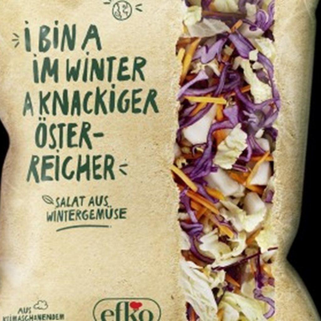 Crisp winter lettuce from Austria in CO2-neutral packaging