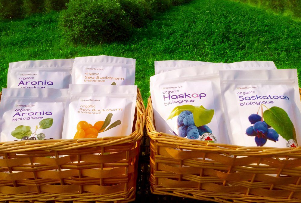 Some of the products marketed into retailers by Boreal Berry through FreshSpoke.