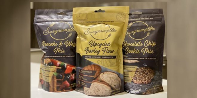 """SUSGRAINABLE: THE JOURNEY FROM BEER """"WASTE"""" TO PREMIUM UPCYCLED BAKING MIXES"""