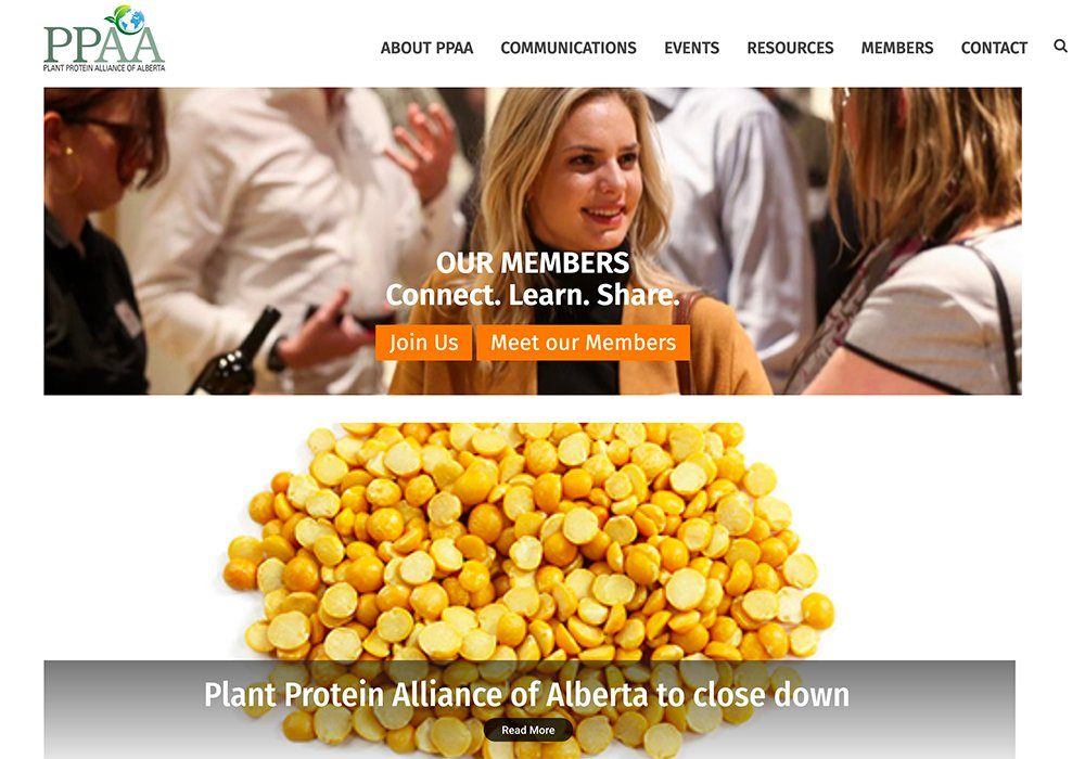 Plant Protein Alliance of Alberta says the provincial government decided not to renew funding.