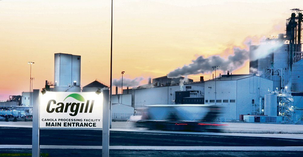 Three canola crushing facilities now operate in Saskatchewan, including this one owned by Cargill in Clavet. The announcement of two new plants in Regina and doubling of capacity at a plant in Yorkton will add 4.5 million tonnes of processing capacity to the existing 11 million tonnes at the 14 plants currently operating in Canada.