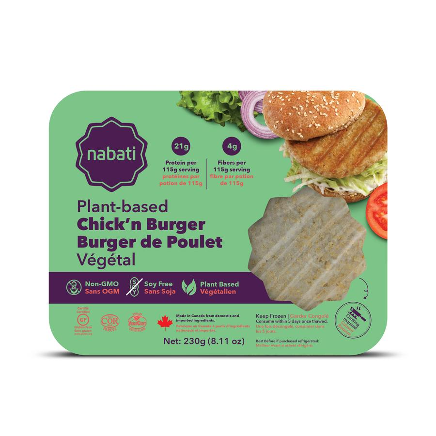 Nabati Foods Chick'n Burger finalist for Retail Council of Canada's 28th Annual Canadian Grand Prix New Products Awards