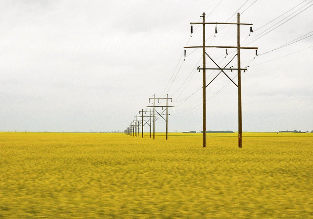 """SaskPower announced its annual """"Look up and Live"""" campaign, reminding farmers to take an extra minute or two when operating machinery around power lines."""