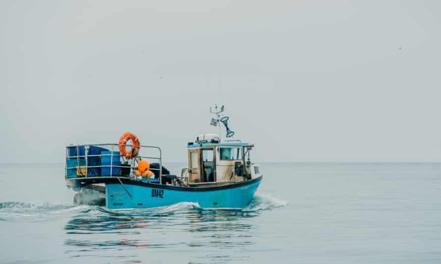 The Kayleigh Ann leaving Brixham Harbour
