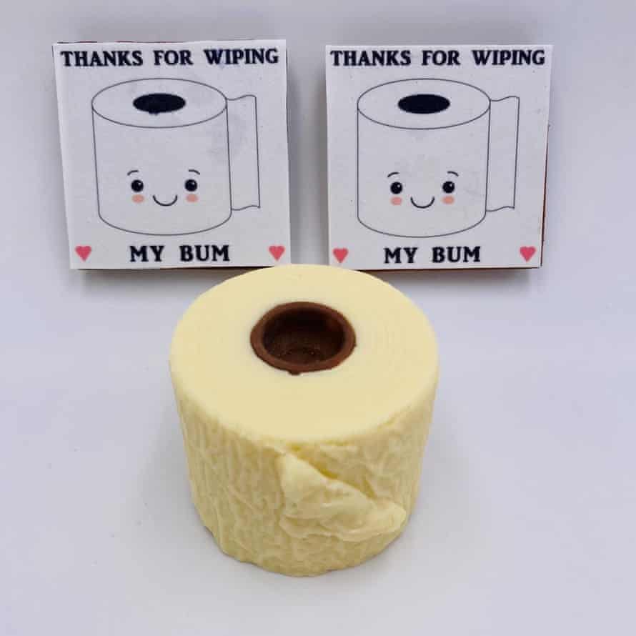 Chocolate toilet roll by Personalised Chocolates 4U