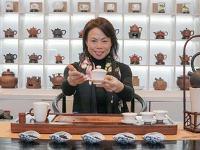 Olivia Chan of Treasure Green Tea Company. This upscale shop sells high-altitude Wuyi tea and lovely, affordable teaware.