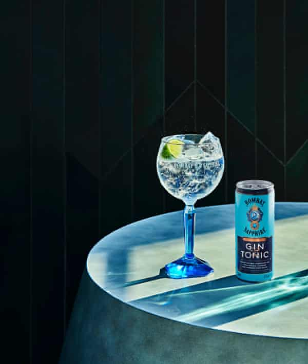 Bombay Sapphire Gin and Tonic.